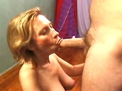 Milf gets her stretched twat ripped