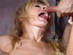 Blonde mature fucks with three guys n gets facials