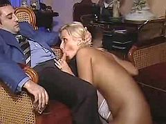 Quirky slutty makes two her clients jizz by turns