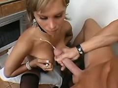 Fancy shemale making her lover jizz