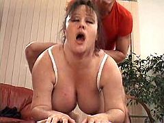 Brunette crummy mature has hard fuck from behind