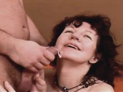 Brunette mature fucks in diff poses n gets facial