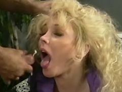 Beautiful mature with huge melons get cum in mouth