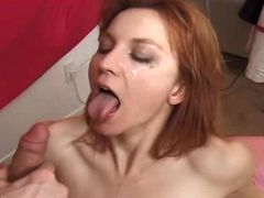 Cutie redhead milf fucking with man in diff poses