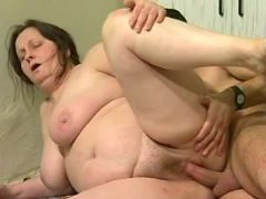 Granny crazy fucked by guy in every poses on floor