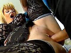 Milf gets nailed hard in cunt n ass