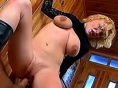 Secretary dances on cock