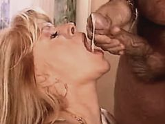 Blond milf fucks in diff poses n gets cum in mouth
