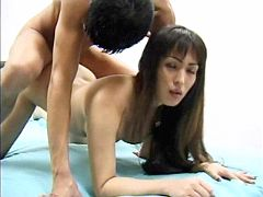 Sexy asian tranny gets anal massage