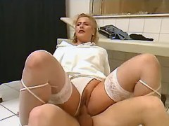 Chubby nurse doing amateur patient