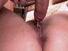 Chubby aged mom fucks in all poses n gets creampie