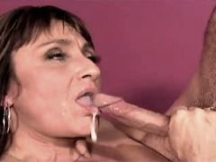 Mature gets facial after hot fuck in all positions