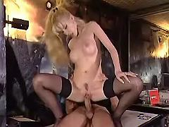 Lusty secretary crazy jumps on strong bosses dick