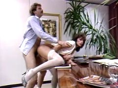 Mature secretary getting creampie