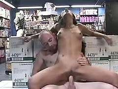 Horny chick jump on dick
