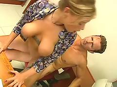 Blonde fucking in office