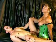 Tgirl nails guy n spunks
