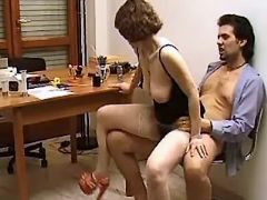 Yummy secretary fucked and cummed by depraved boss