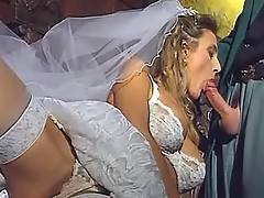 Bride suck before wedding