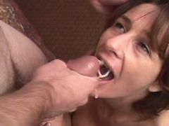 Depraved mature gets lavish hot cumload in mouth
